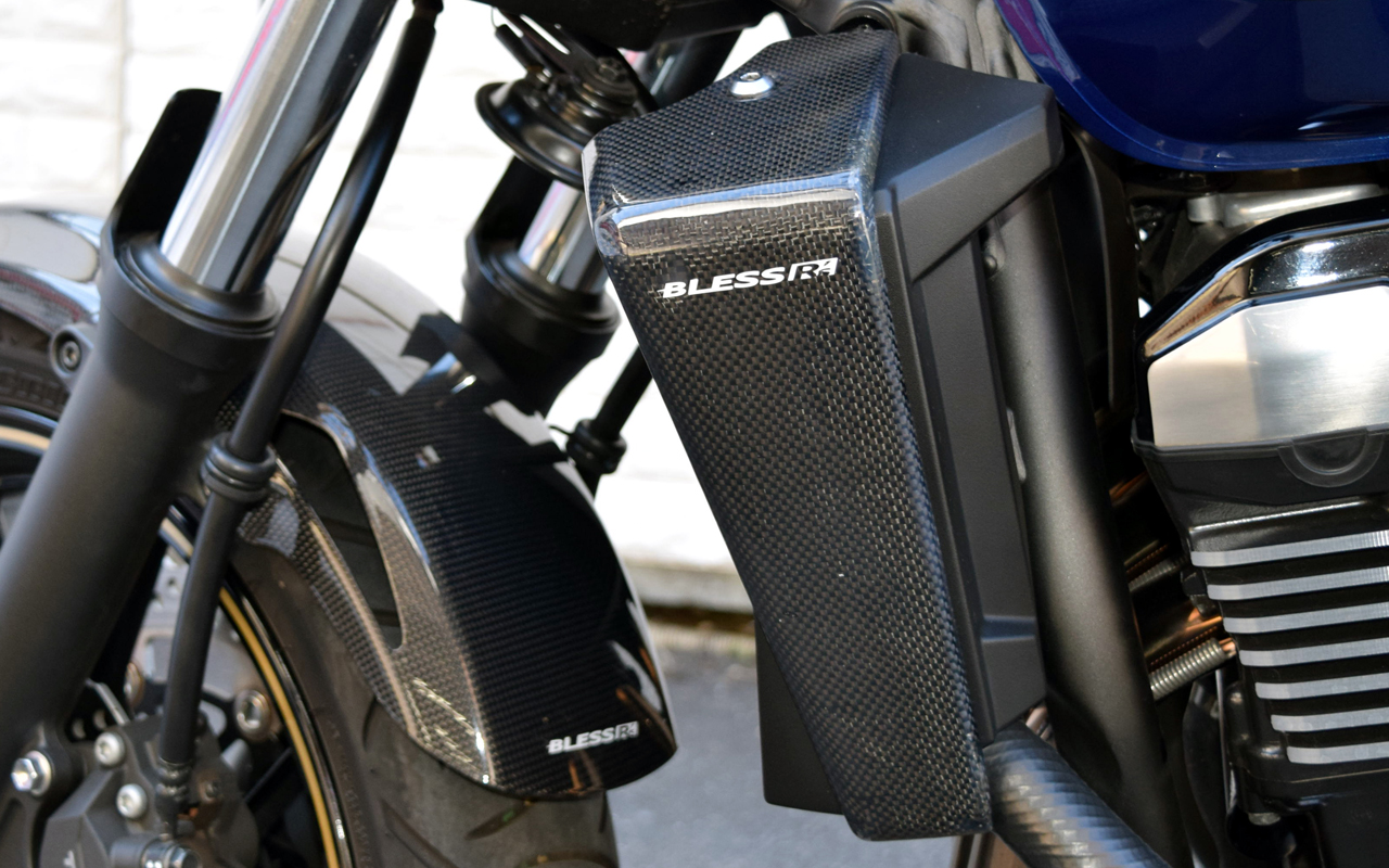 bless r's carbon radiator cover